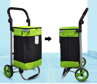 D140 Rugged Aluminium Luggage Trolley Hand Truck Folding Foldable Shopping Cart
