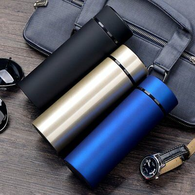 Frosted Matte Stainless Steel Vacuum Flasks Mug Coffee Insulated Water Bottle LN
