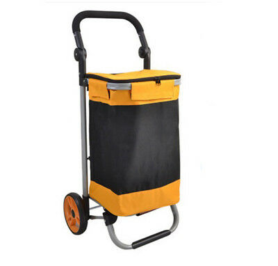 D143 Rugged Aluminium Luggage Trolley Hand Truck Folding Foldable Shopping Cart