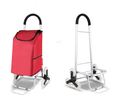 D176 Rugged Aluminium Luggage Trolley Hand Truck Folding Foldable Shopping Cart