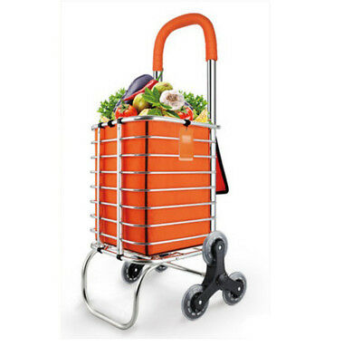 D72 Rugged Aluminium Luggage Trolley Hand Truck Folding Foldable Shopping Cart