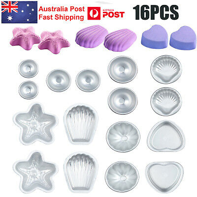 16pcs 8Set DIY Mold Sphere Metal Bath Bomb Fizzy Crafting Cake Candle Mould GIFT