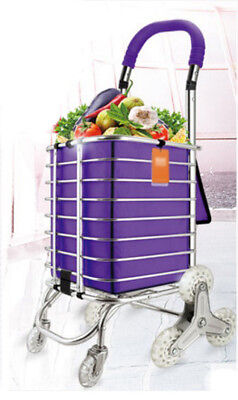 D69 Rugged Aluminium Luggage Trolley Hand Truck Folding Foldable Shopping Cart