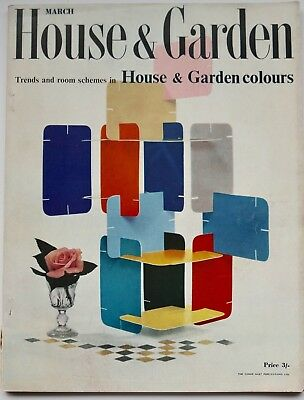 1957 Charles EAMES House of Cards HOUSE & GARDEN 50s design magazine