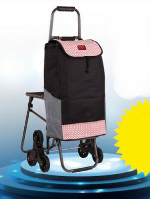 D171 Rugged Aluminium Luggage Trolley Hand Truck Folding Foldable Shopping Cart