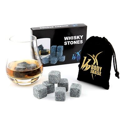 Summer Pub Bar Whisky Whiskey Stones Ice Cubes Ice Rocks Gift Idea 9 pieces