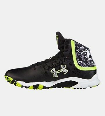Mens Under Armour UA Banshee Mid Turf Lacrosse Supportive Shoes, 15 1250091