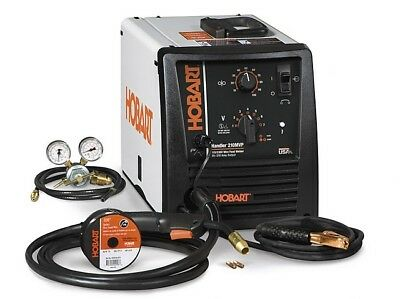 Hobart Handler 210MVP Flux-Core/MIG Welder with Multi-Voltage Plug - 500553 -NEW