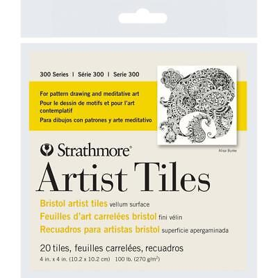Strathmore Artist Tiles 4 x 4 Inch Pack of 20 Sheets