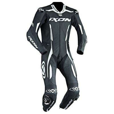 IXON VORTEX 1 Pc Motorcycle Motorbike Leather Racing Suit Black/White |CLEARANCE