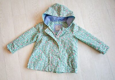 IMMACULATE girls 'NEXT' HOODED COAT Age 3-4 YEARS (Floral)