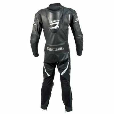 Richa Baracuda Motorcycle Motorbike Leather Racing Suit Black/White |CLEARANCE