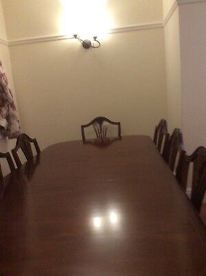 Mahogany Extending Dining Table and eight chairs