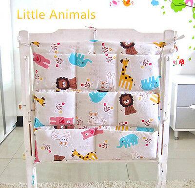 Little Animals Baby cot storage organiser/Nursery pouch bag/Diaper storage