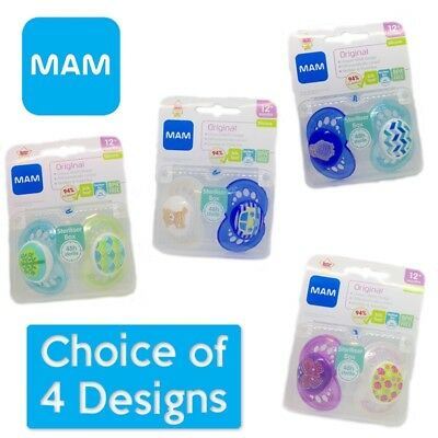 MAM Original - Soother Twin Pack - 12m+  CHOICE OF DESIGN BOY/GIRL (A37)