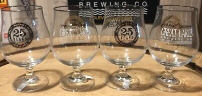 Great Lakes Brewery Beer Glasses, 25th anniversary. Set of four, made in Germany