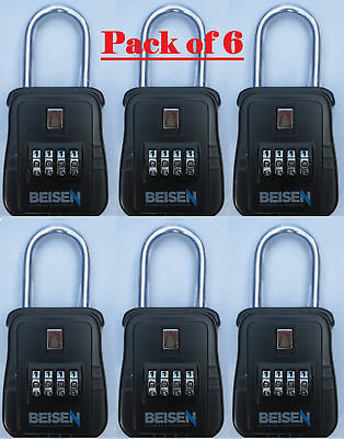 PACK OF 6 - Lockbox key lock box for realtor real estate 4 digit