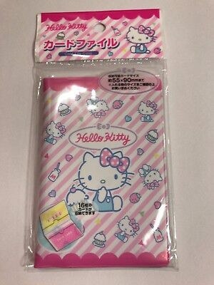 Sanrio Hello Kitty Card File Case 16 Sheets Storage From Japan Free Shipping