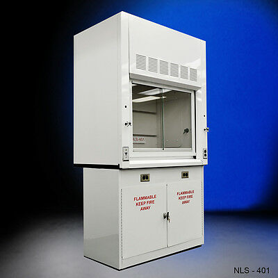 Chemical 4'  Fume Hood WITH Flammable Base Storage Cabinets