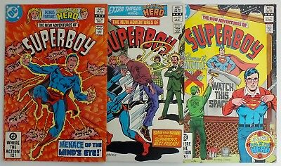 3 issues The New Adventures of Superboy - # 36, 37, 40  - DC - 1982 - VF (131)