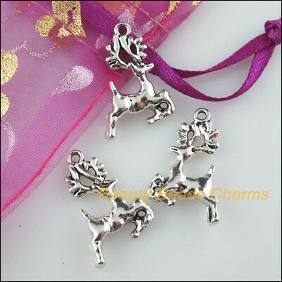 10 New Charms Animal Sika Deer Tibetan Silver Tone Pendants 16x22mm