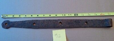 Antique Hand Wrought Barn Door Strap Hinge - Quabbin Flooded Town Relic #12