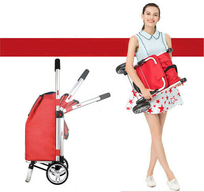 D93 Rugged Aluminium Luggage Trolley Hand Truck Folding Foldable Shopping Cart