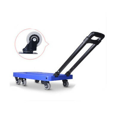 D57 Rugged Aluminium Luggage Trolley Hand Truck Folding Foldable Shopping Cart