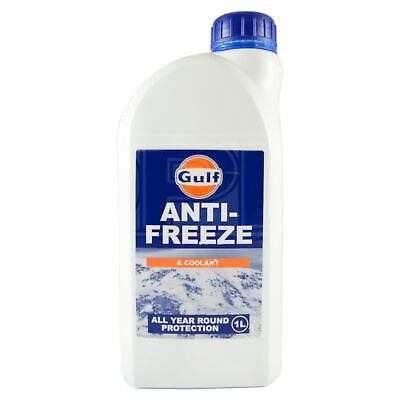 Gulf Anti Freeze & Coolant Concentrate - All Year Round Protection - 1 Litre 1L
