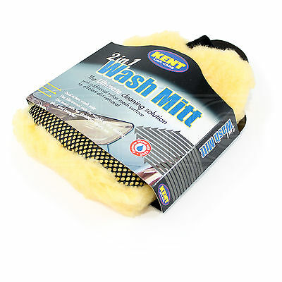 Kent Car Care - 2 in 1 Wash Mitt, Synthetic Wool