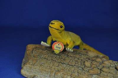 Steiff Eidechse / Lizzard Lizzy, 1404,00, 1959-1961, Knopf+Schild, button+sign