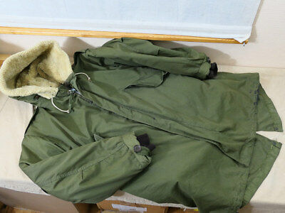 #B Original M-1951 Fishtail MOD Parka M51 SHELL MEDIUM + Liner + WOOL HOOD