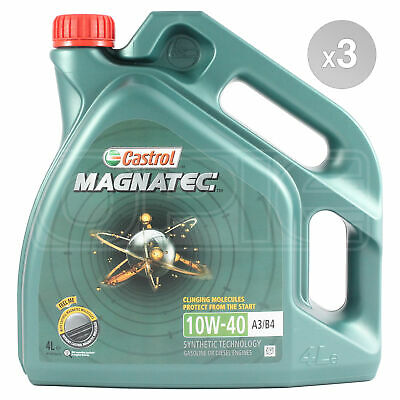 Castrol Magnatec 10W-40 Part-Synthetic Engine Oil ACEA A3/B4 - 12 Litres: 3 x 4L