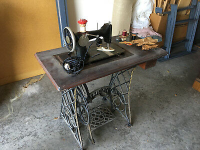 Vintage & collectible Kohler Sewing Machine & Cast Iron Stand!