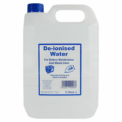 De-ionised Water (DW005) for use in batteries & cooling systems - 5 Litres 5L