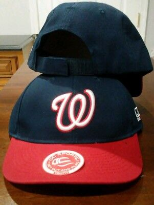 a9ce75315889c4 New Youth Twill MLB Washington Nationals Road Navy Blue/Red