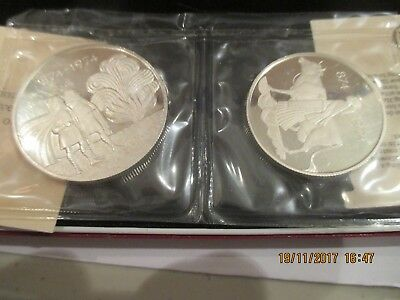 1974 Iceland 2 Coin Proof Silver Set