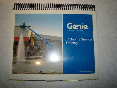Genie Terex Aerial Ic Boom Lifts Service Training Manual S60 65 Z45 Part #139146
