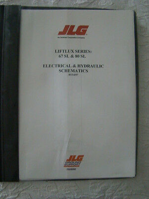 Jlg Liftlux Series 67 Sl 80 Sl Scissor Lift Electrical & Hydraulic Schematics