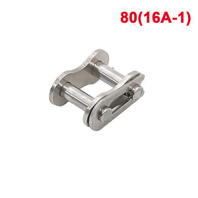 """#80/1"""" Stainless Steel Roller Chain Connecting Link 16A-1 Full Link x1Pcs"""