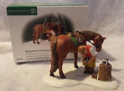 Dept 56 Dickens Village Blacksmith To The Rescue #58541 With Box