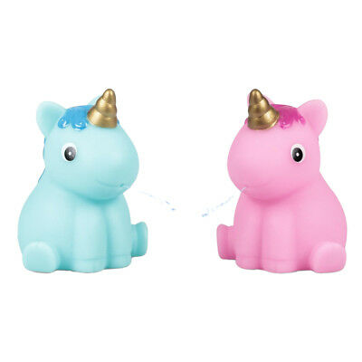 2 x Unicorn Bath Water Squirter - Rubber Duck Bath Toy Christmas Stocking Filler