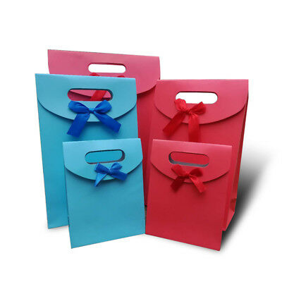 12Pcs 3 Size Paper Bag Xmas Party Birthday Wedding Present Gift Bag Carrier Box