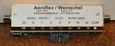 Aeroflex / Weinschel Programmable Attenuator Model 3200-2E-1 SMA Female