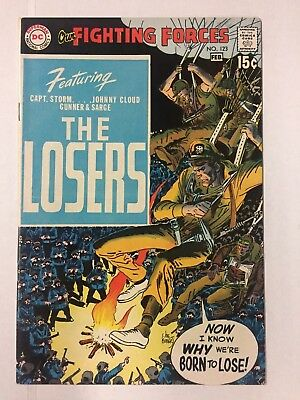 OUR FIGHTING FORCES #123 (1970), 1st LOSERS, VF Shape, DC COMICS, FREE SHIPPING