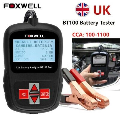 Car 12V Battery Load Tester Charging System Analyzer Diagnostic Tool Foxwell UK