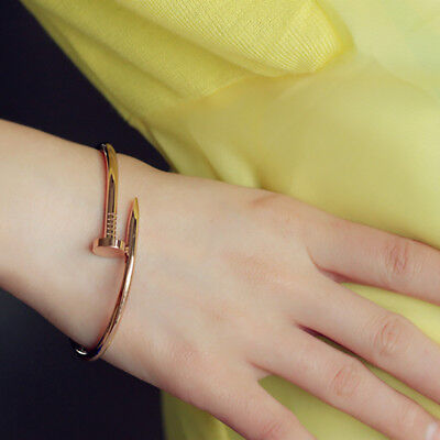 Beautiful Love Nail Bracelets Rose Gold/ Gold/ Silver Plated Not Cartier