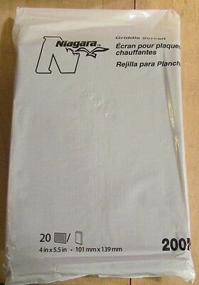 NIAGARA Griddle Screens 20 each 4 x 5 1/2 PART #200N NEW GRILL CLEANING