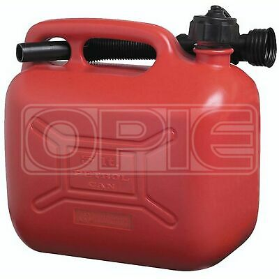 Cosmos Petrol Fuel Can - Red Plastic (03106) - 5 Litres