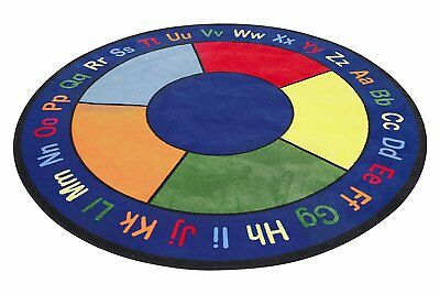 Learning Carpets CPR483 - ABC Squares Round, Small